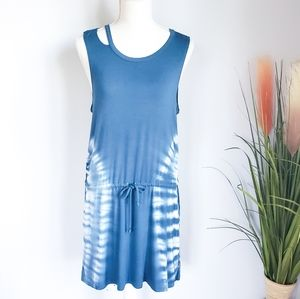 Chaser, Cool Jersey Deconstructed Tie Dye Dress, M